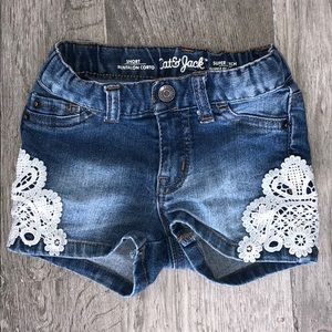 Other - TODDLERS Denim Lace Shorts